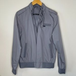 Members Only Men's Gray Jacket Size Small